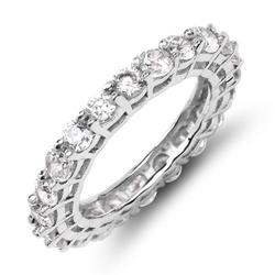 Firi 3 srebrny pierścionek obrączka cyrkonie