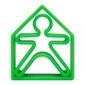 Zabawka kreatywna dena kid + house - green