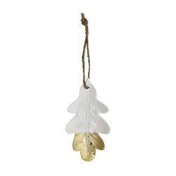 Zawieszka listek acorn leaf gold green gate