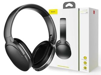 Baseus słuchawki nauszne bezprzewodowe bluetooth 5.0 encok d02 black - czarny