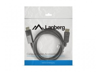 Lanberg kabel displayport - hdmi mm 1.8m czarny