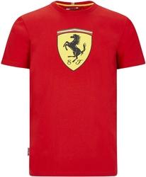 Koszulka scuderia ferrari f1 large shield czerwona - czerwony