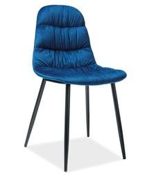 Krzesło pikowane Irene granatowe