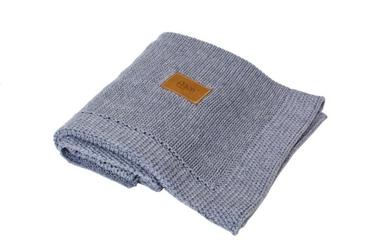 Kocyk tkany z bawełny organicznej - ciemny Szary