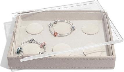 Szkatułka na bransoletki charms   stackers classic taupe z pokrywką