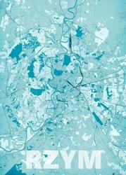 Rzym - Błękitna mapa