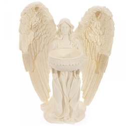 Świecznik klęczący anioł 18cm