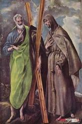święci andrzej i franciszek el greco ; obraz - reprodukcja
