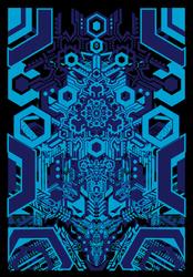 HI-TEK BLUE - plakat premium Wymiar do wyboru: 60x80 cm