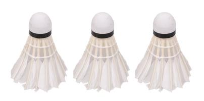 Lotki do badmintona vivo piórowe białe 3szt c-300