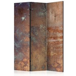 Parawan 3-częściowy - zardzewiała płyta room dividers