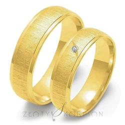 Obrączki ślubne złoty skorpion – wzór au-o23