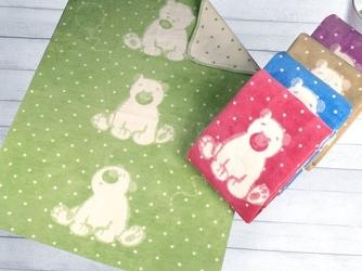 Kocyk dla dzieci sweet bear greno, 5 kolorów zielony 100 x 150