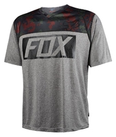 Koszulka rowerowa fox indicator prints heather graphite