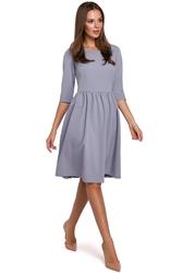 Klasyczna sukienka rozkloszowana midi z dopasowaną górą gołębia k010
