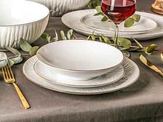 Zestaw obiadowy dla 6 osób porcelana mariapaula natura złota linia 18 elementów