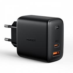 Aukey pa-b3 ultraszybka ładowarka sieciowa 2xusb power delivery 1xusb a+1xusb c 65w 5.4a
