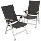 Zestaw 2 krzeseł ogrodowych składanych z polirattanu 101x61x72 cm