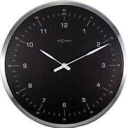 Zegar ścienny 60 minutes Nextime czarny cyferblat 3243 ZW