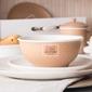 Salaterka  miska porcelanowa altom design happy home 14 cm, beżowa w kropki