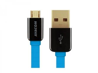 Kabel usb 2.0, usb a m- usb micro m, 0.4m, niebieski, avacom