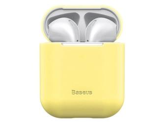 Baseus silikonowe etui na słuchawki apple airpods 12 case yellow - żółty