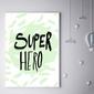 Super bohater miętowy - plakat wymiar do wyboru: 50x70 cm