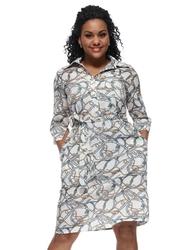 Sukienka z paskami i łańcuchami plus size