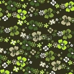 Fotoboard na płycie wzór kwiatów