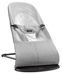 Leżaczek balance soft mesh - srebrny  biały