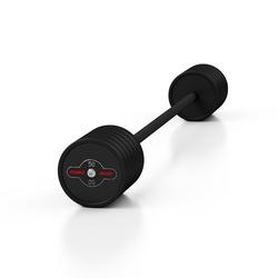 Sztanga gumowana prosta 50 kg czarny mat - marbo sport - 50 kg