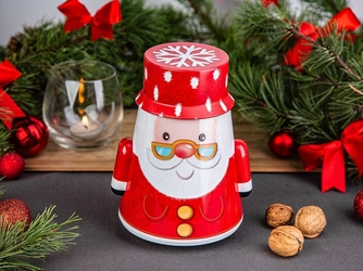 Puszka bujana na ciasteczka i pierniki świąteczna altom design boże narodzenie mikołaj 13,5 x 25 cm