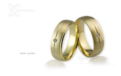 Obrączki ślubne - wzór au-398