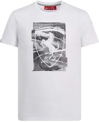 Koszulka scuderia ferrari shield biała - biały