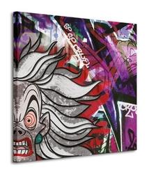 Cruella deville graffiti - obraz na płótnie