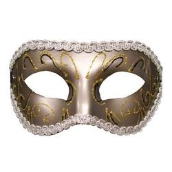 Maska w stylu karnawałowym sm grey masquerade mask