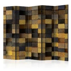 Parawan 5-częściowy - drewniane kostki ii room dividers