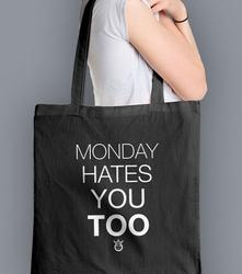 Monday hates you too torba na zakupy czarna universal