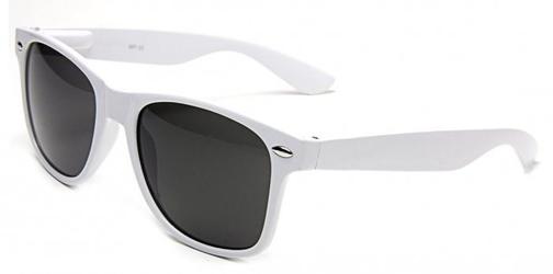 Okulary nerdy przeciwsłoneczne białe