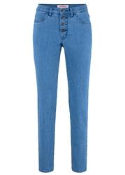 Wygodne dżinsy ze stretchem slim fit bonprix niebieski