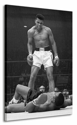 Muhammad Ali Ali vs Liston Portrait Corbis - Obraz na płótnie