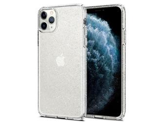 Etui spigen liquid crystal glitter do apple iphone 11 pro crystal quartz - przezroczysty