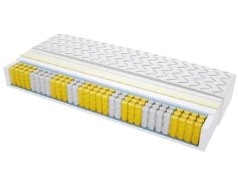 Materac kieszeniowy dallas 180x235 cm średnio twardy visco memory dwustronny