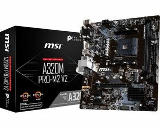 MSI Płyta główna A320M PRO-M2 V2 s.AM4 2DDR4 VGADVIHDMI M.2 m-ATX