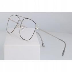 Okulary męskie zerówki filtr blue light do komputera 2547-4
