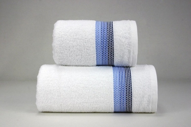 OMBRE BIAŁYGRANATOWY ręcznik FROTEX - biało-granatowy
