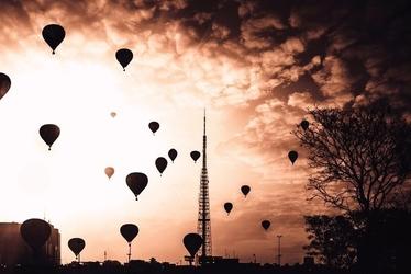 Fototapeta na ścianę lecące balony fp 1198