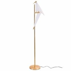 Lampa stojąca bird led złota 155 cm