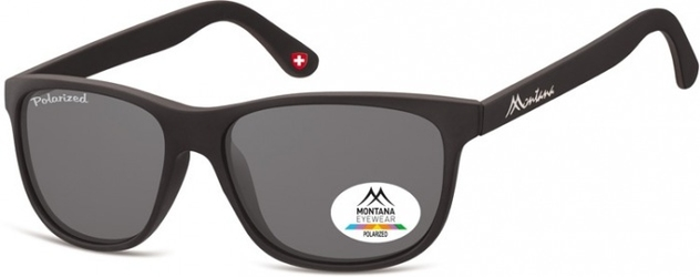 Okulary nerdy  montana mp48 polaryzacyjne czarne