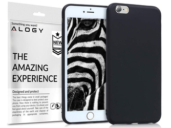 Etui silikonowe alogy slim case do apple iphone 6 6s czarne